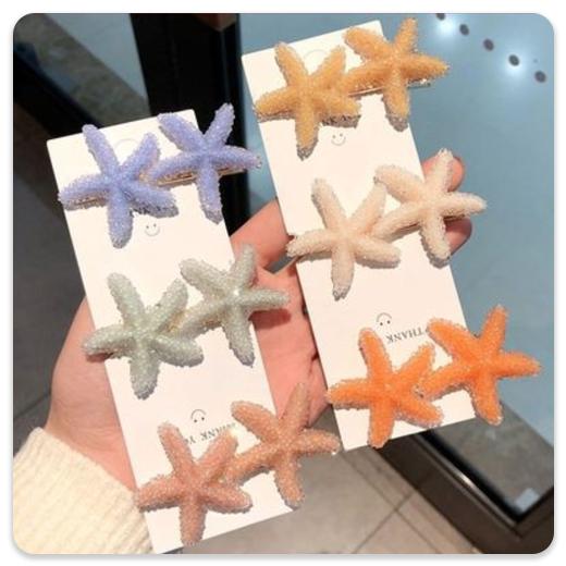 گیره مو – مدل ستاره دریایی