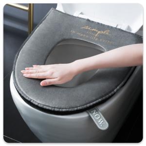 کاور دستشویی فرنگی | مدل : مخملی زیپ دار